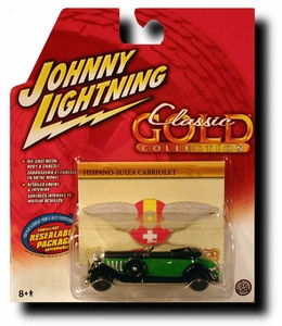 Johnny Lightning 1:64 Scale Diecast Car Classic Gold Hispano-Suiza Cabriolet