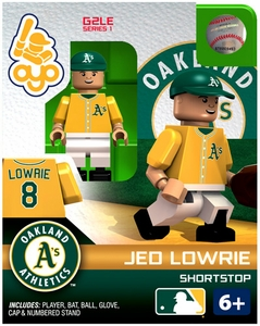 OYO Baseball MLB Generation 2 Building Brick Minifigure Jed Lowrie [Oakland A's]