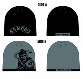 Sons of Anarchy Samcro Reaper Reversible Beanie Pre-Order ships July