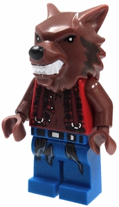 LEGOMonster Fighters LOOSE Complete Mini Figure Werewolf in Tattered Red Shirt & Blue Pants