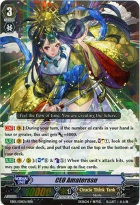 Cardfight Vanguard ENGLISH Extra Booster: Celestial Valkyries Single Card RRR Rare EB05/001 CEO Amaterasu