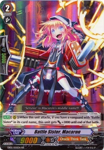 Cardfight Vanguard ENGLISH Extra Booster: Celestial Valkyries Single Card RR Rare EB05/005 Battle Sister, Macaron