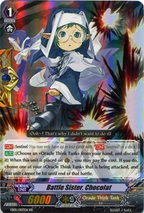 Cardfight Vanguard ENGLISH Extra Booster: Celestial Valkyries Single Card RR Rare EB05/007 Battle Sister, Chocolat