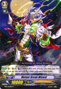 Cardfight Vanguard ENGLISH Extra Booster: Celestial Valkyries Single Card Rare EB05/008 Meteor Break Wizard