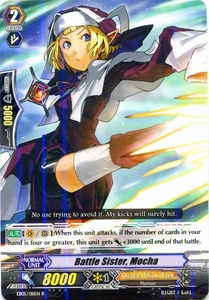 Cardfight Vanguard ENGLISH Extra Booster: Celestial Valkyries Single Card Rare EB05/011 Battle Sister, Mocha