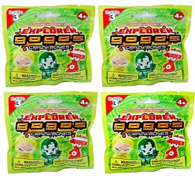 Crazy Bones Gogo's Series 3 Explorer 4 Booster Packs [12 Crazy Bones]