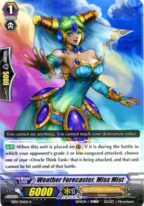 Cardfight Vanguard ENGLISH Extra Booster: Celestial Valkyries Single Card Rare EB05/014 Weather Forecaster, Miss Mist