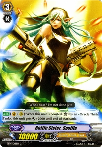 Cardfight Vanguard ENGLISH Extra Booster: Celestial Valkyries Single Card Common EB05/018 Battle Sister, Souffle
