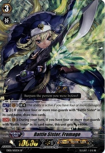 Cardfight Vanguard ENGLISH Extra Booster: Celestial Valkyries Single Card SP Rare EB05/002 Battle Sister, Fromage