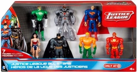 Justice League Exclusive Action Figure 7-Pack All Stars [Green Lantern, Cyborg, Superman, Wonder Woman, Batman, Aquaman & Flash]
