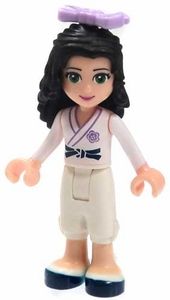 LEGO Friends LOOSE Mini Figure Emma [Karate Uniform with Purple Bow]