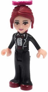LEGO Friends LOOSE Mini Figure Mia [Black Trousers, Black Formal Jacket with Bow Tie]