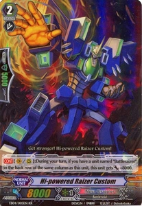 Cardfight Vanguard ENGLISH Extra Booster: Infinite Phantom Legion Single Card RR Rare EB04/005 Hi-powered Raizer Custom
