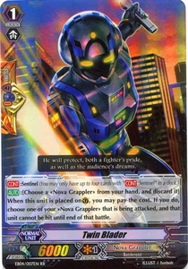 Cardfight Vanguard ENGLISH Extra Booster: Infinite Phantom Legion Single Card RR Rare EB04/007 Twin Blader