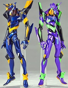 Evangelion Revoltech Yamaguchi Super Poseable Action Figure Set EVA-01 & EVA-06 Pre-Order ships March