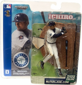 McFarlane Toys MLB Sports Picks Series 1 Action Figure Ichiro Suzuki (Seattle Mariners) White Jersey Dirty Pants Variant Damaged Package, Mint Contents!