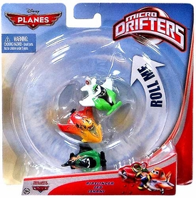 Disney PLANES Micro Drifters 3-Pack Ripslinger, Zed & Ishani
