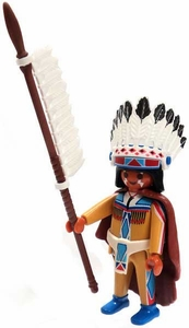 Playmobil Fi?ures Series 4 LOOSE Mini Figure Native American Chief