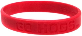 Official NCAA College School Rubber Bracelet ARKANSAS Razorbacks [Cardinal Red]