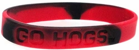 Official NCAA College School Rubber Bracelet ARKANSAS Razorbacks [Marble Color]