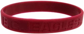 Official NCAA College School Rubber Bracelet BOSTON COLLEGE Eagles [Red]