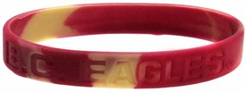 Official NCAA College School Rubber Bracelet BOSTON COLLEGE Eagles Marble Color