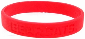 Official NCAA College School Rubber Bracelet CINCINNATI Bearcats [Red]