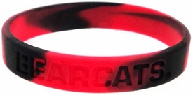 Official NCAA College School Rubber Bracelet CINCINNATI Bearcats Marble Color