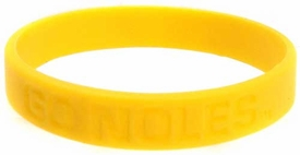 Official NCAA College School Rubber Bracelet FLORIDA STATE Seminoles  [Yellow]