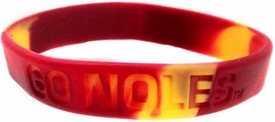 Official NCAA College School Rubber Bracelet FLORIDA STATE Seminoles [Marble Color]