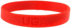 Official NCAA College School Rubber Bracelet GEORGIA UGA Bulldogs [Red]