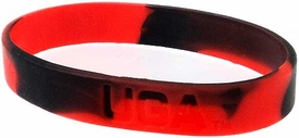 Official NCAA College School Rubber Bracelet GEORGIA Bulldogs Marble Color