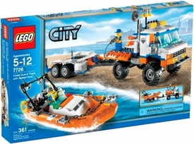 LEGO City Set #7726 Coast Guard Truck with Speed Boat