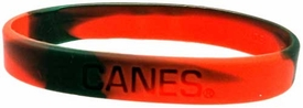 Official NCAA College School Rubber Bracelet MIAMI Hurricanes [Marble Color]