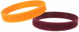 Official NCAA College School Rubber Bracelet MINNESOTA Golden Gophers