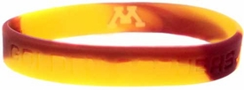 Official NCAA College School Rubber Bracelet MINNESOTA Golden Gophers Marble Color
