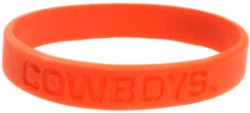 Official NCAA College School Rubber Bracelet OKLAHOMA STATE Cowboys [Orange]