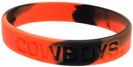 Official NCAA College School Rubber Bracelet OKLAHOMA STATE Cowboys [Marble Color] BLOWOUT SALE!