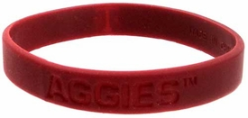 Official NCAA College School Rubber Bracelet TEXAS A&M Aggies [Maroon]