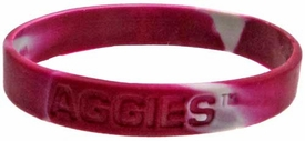 Official NCAA College School Rubber Bracelet TEXAS A&M Aggies [Marble Color]