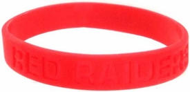 Official NCAA College School Rubber Bracelet TEXAS TECH Red Raiders [Red]