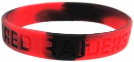 Official NCAA College School Rubber Bracelet TEXAS TECH Red Raiders Marble Color