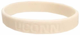 Official NCAA College School Rubber Bracelet UCONN [White]