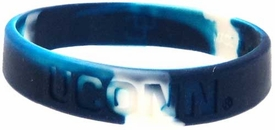 Official NCAA College School Rubber Bracelet UCONN [Marble Color]
