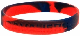Official NCAA College School Rubber Bracelet VIRGINIA Cavaliers Marble Color