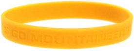 Official NCAA College School Rubber Bracelet WEST VIRGINIA Mountaineers  [Yellow]