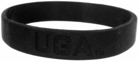 Official NCAA College School Rubber Bracelet GEORGIA Bulldogs Black