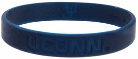 Official NCAA College School Rubber Bracelet UCONN [Blue]