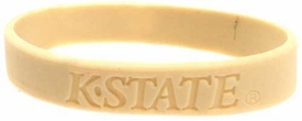 Official NCAA College School Rubber Bracelet KANSAS STATE Wildcats [Tan]