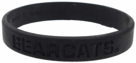 Official NCAA College School Rubber Bracelet CINCINNATI Bearcats [Black]